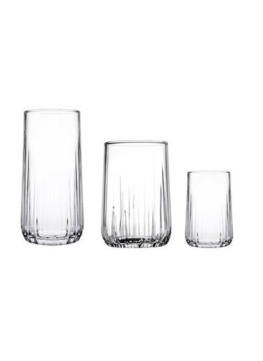 Paşabahçe PaşabahÇe Nova 18'li 3 Boylu Su Meşrubat Bardağı Renksiz
